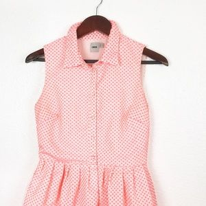 ASOS Dresses - ASOS Pink Dotted Sleeveless Shirt Dress